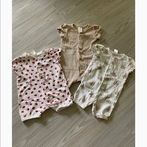 H&M Baby Girl Romper Bundle 2-4 Months